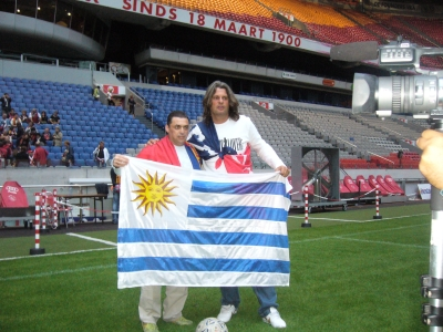 Aguilera and Skuhravy in the Amsterdam Arena