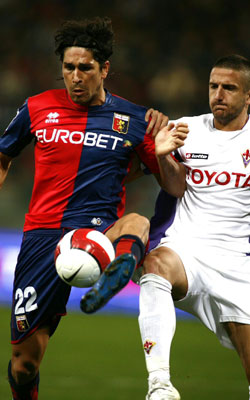 Marco Borriello against Fiorentina