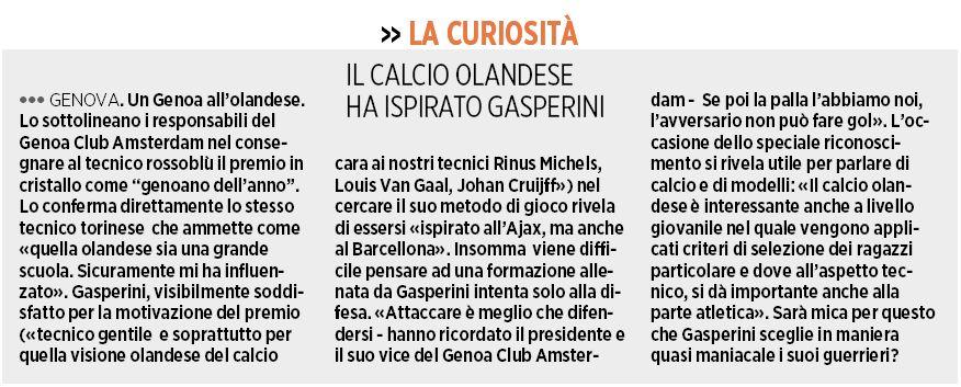 Gasperini inspired by Dutch football