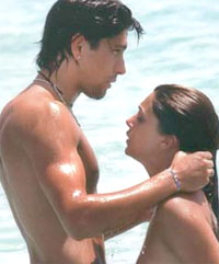 Marco Borriello and Belen Rodriguez