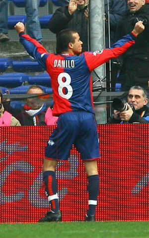 Danilo after his first goal with Genoa