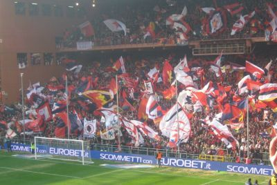 Gradinata Nord just before the derby