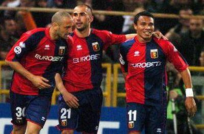 Marco di Vaio celebrates one of his goals