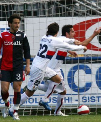 Alessandro Lucarelli scored his first goal with Genoa