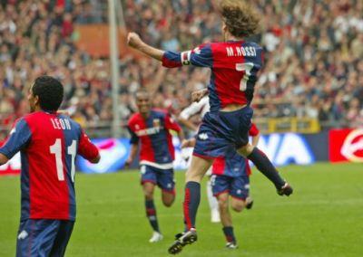 Marco Rossi scored in his 100th Serie A match his first Serie A goal with Genoa
