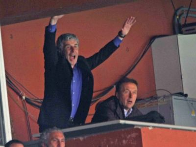 Banned Mr. Gasperini celebrates a goal against Torino