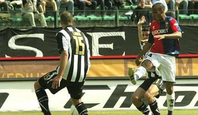 Konko scores against his former team Siena: 0-1