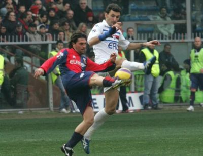 playmaker Omar Milanetto in the derby