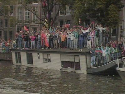 Amsterdam celebrates the Dutch team being Champion of Europe in 1988