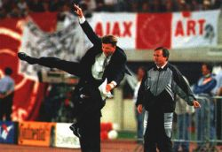 Louis van Gaal during the winning Champions League final against Milan (Vienna 1995)