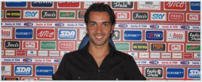 Raffaele Palladino at Genoa's headquarters (grazie sito Genoa CFC)