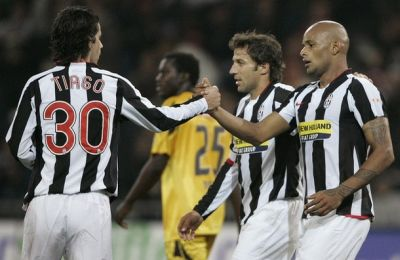 Ruben Olivera at the right after a goal with Juventus