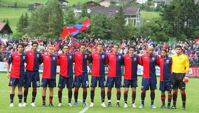 the first Genoa line-up of the season 2008-2009