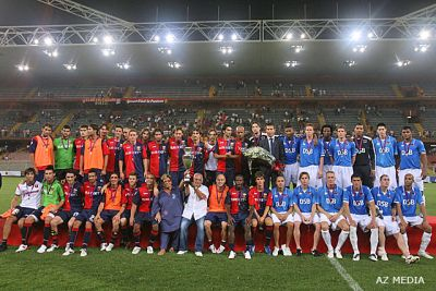 the teams of Genoa and AZ that played to win 13th Tropheo Spagnolo
