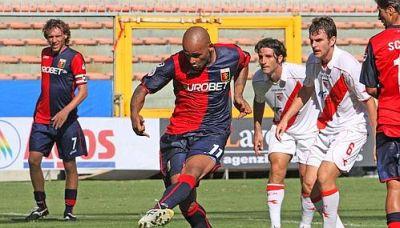 Rubén Olivera scores the second goal against Mantova