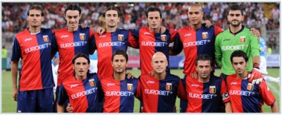the line-up of Genoa against AZ Alkmaar