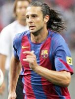 Thiago Motta in the shirt of F.C. Barcelona