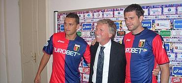 from left to right: Bosko Jankovic, Enrico Preziosi and Thiago Motta