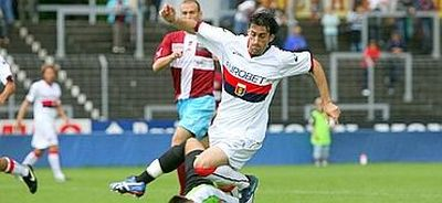 Diego Milito in his first match against Bellinzona (3-0)