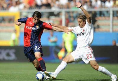 Diego Milito with Ambrosini