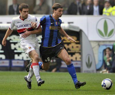 Sokratis Papastahopoulos and Zlatan Ibrahimovic