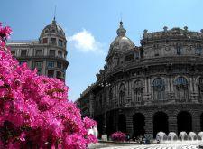 downtown Genova, Piazza de Ferrari