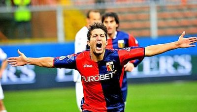 Giuseppe Sculli after his 5th goal of the season against Bologna