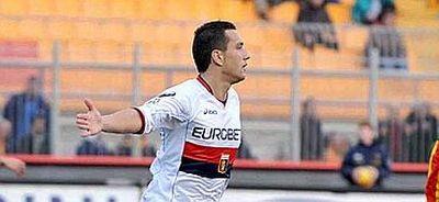 Bosko Jankovic celebrates his fantastic goal in Lecce