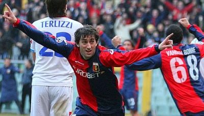 Diego Milito is happy with his first goal in 2009
