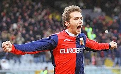 Domenico (Mimmo) Criscito after his goal against Palermo