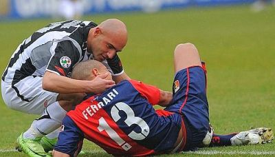 Matteo Ferrari and Maccarone, opponents with respect for each other