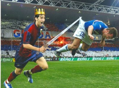 The last derby was decided by Diego Milito who beat his rival Antonio Ca$$ano