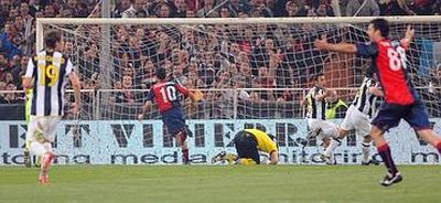 The winning goal of Raffaele Palladino in the 88th minute: 3-2