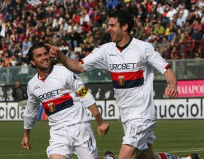 Motta and Milanetto our 2 playmakers celebrate together the winning goal in Reggina