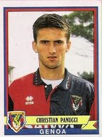 Christian Panucci in the shirt of Genoa (1991-1993)