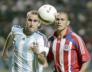 Wing-striker Rodrigo Palacio with the Argentinian National team
