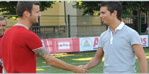 Fabrizio Preziosi and new defender Andrea Esposito