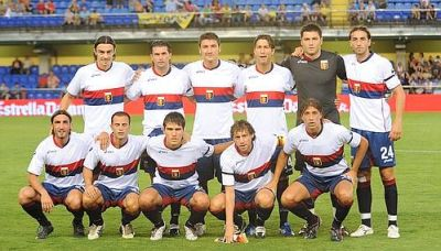 The line-up during Villareal - Genoa 1-2
