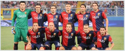 The line-up of Genoa against Odense BK (20th August 2009)