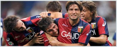 Giuseppe Sculli has found new friends to celebrate the goals after Milito left to Inter