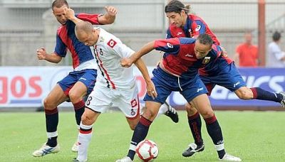 3 midfieldplayers of Genoa against Nice: Mesto, Juric and Kharja