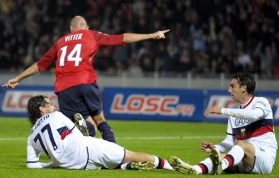 Vittek scored the 2-0 of Lille; Milanetto and Moretti are beaten