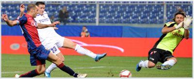 Giandomenico Mesto scores the winning goal against Fiorentina under Frey