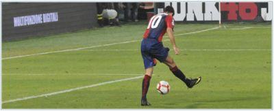 Raffaele Palladino scores with his fantastic backwards shot against Fiorentina