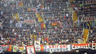 Over 4.000 Genoa-fans were present in Mestalla