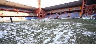 Luigi Ferraris stadium at the morning of Genoa-Bari, 20-12-2010