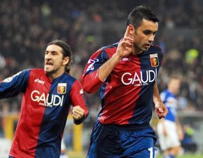Raffaele Palladino can not hear the Sampdoria-fans after his goal, unless the fact Juric tried to help them