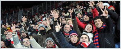 Genoa-fans in Prague were still thinking about the derby