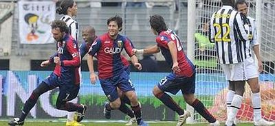 Marco Rossi is happy after one of his goals against Juventus
