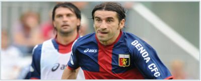 Ivan Juric with in the back his partner in central midfield: Omar Milanetto